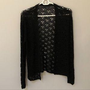 new // Black Crochet Cardigan